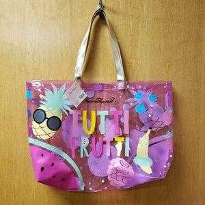 NWT Too Faced Tutti Frutti Clear Tote Bag